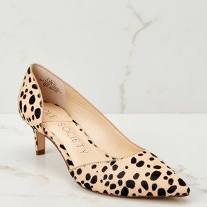SOLE SOCIETY ✨NWOT✨ Calf Hair Leopard Mitzi Pumps
